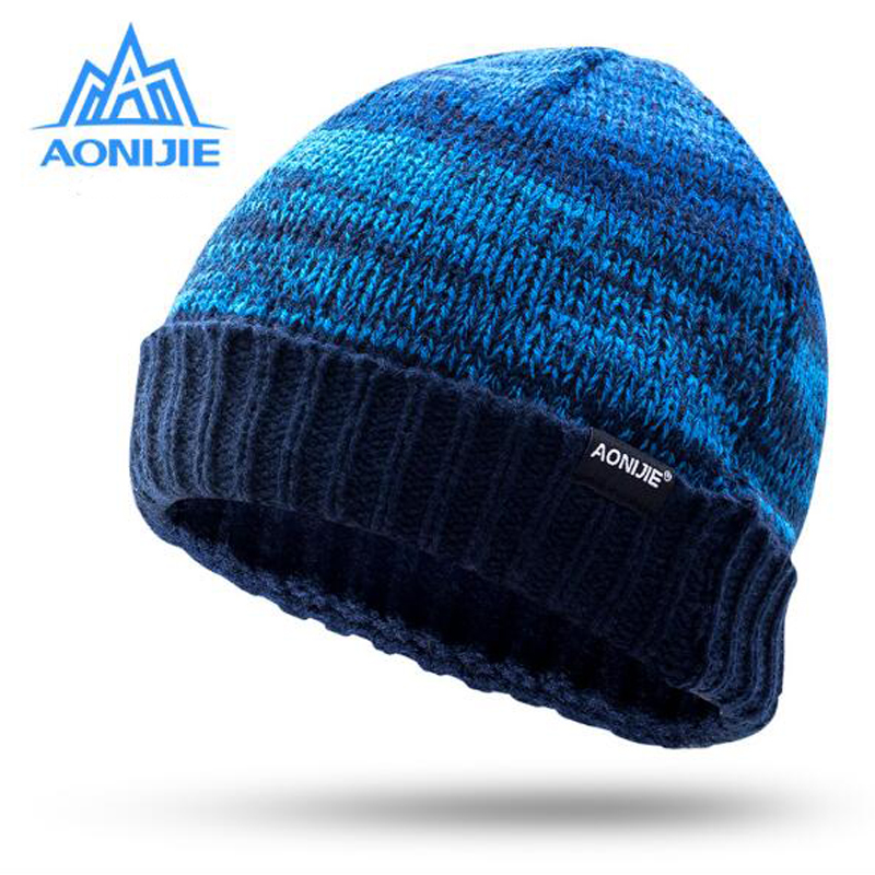 8fd32eb2252 Men Women Winter Outdoor Sports Knitted Hats Snowboarding Cap Winter  Windproof Thick Warm Running Cap Ski Running Caps-in Running Caps from  Sports ...