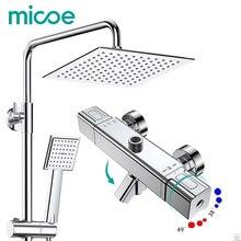 Micoe dusche set smart thermostat kupfer wasserhahn große bereich wasser jet top spray ABS einzelne funktion duschkopf badezimmer mischer