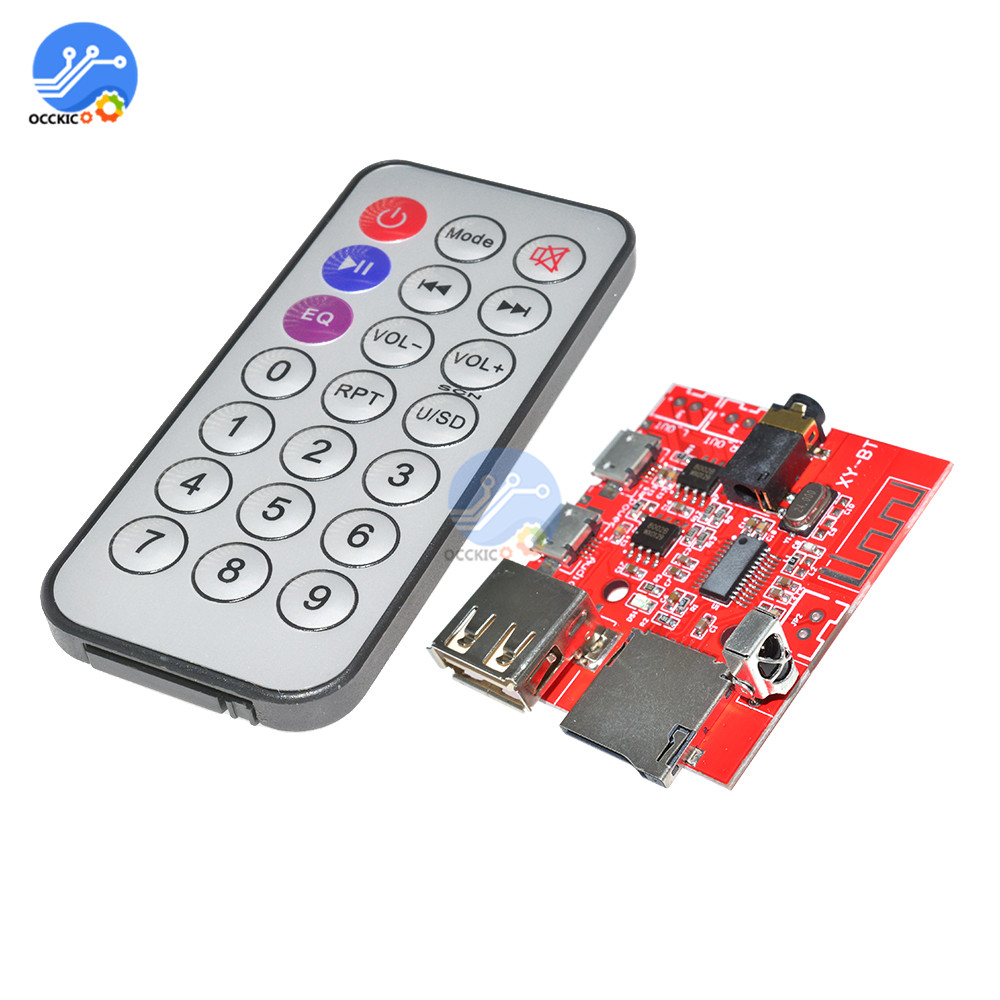 Bluetooth MP3 Decoder Module Dac Board Audio Receiver For Car Speaker Amplifier Support U-Disk/TF With Remote Control