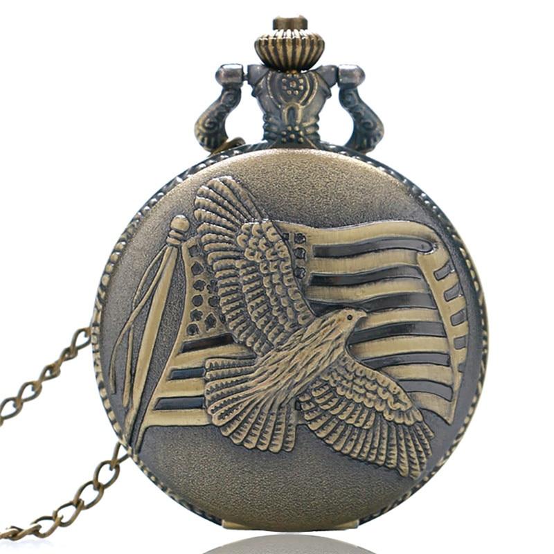 Unisex Animal Eagle Pattern Quartz Pocket Watch For Men Women Vintage Owl Nursing Clock For Male Female Gifts Relogio Feminino