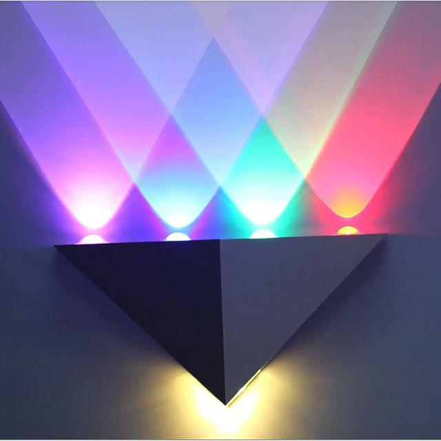 Hot Multi Color 5W LED Wall Sconce Light Up & Down Indoor Wall Lamp ...