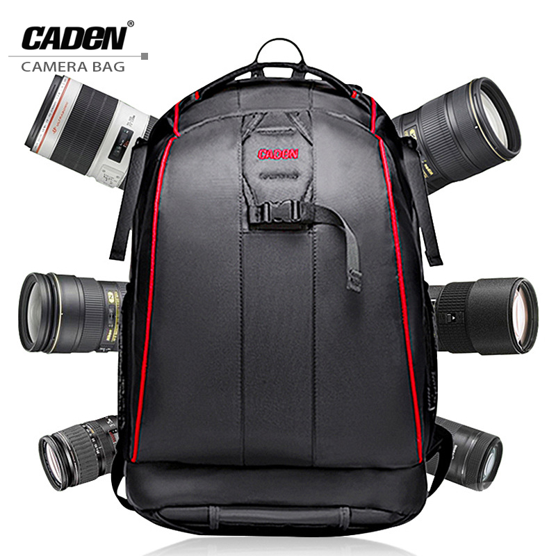 CADeN DSLR Camera Backpacks Video Photo Digital Camera Bag Case Waterproof Travel Backpack Bags for Canon Nikon Sony K6K7 funry us au standard luxury crystal glass panel touch light switch 2 gang 1 way rf433 remote switch wall switch for smart home