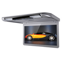 13.3 Car Roof Mounted Monitor 1080P Video HD 1920*1080 HDMI TFT Ceiling Displayer IR FM USB SD Ultra thin Flip Down Wide Screen
