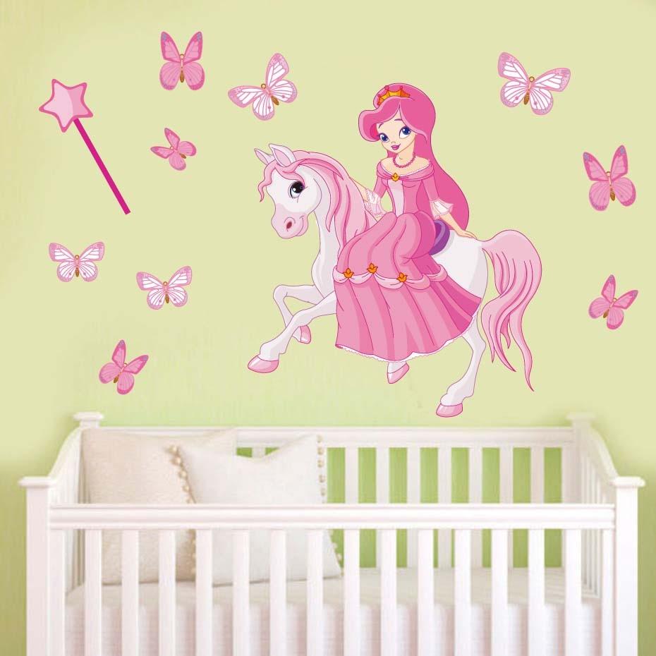 Diy Cartoon Horse Stars Wall Stickers Decorative Home Wall Decals ...