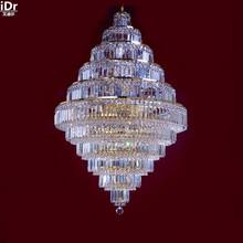 Chandeliers Gold Hanging Crystal Lamp Golden Metal Fancy Chandelier 80cm W X 120cm H China