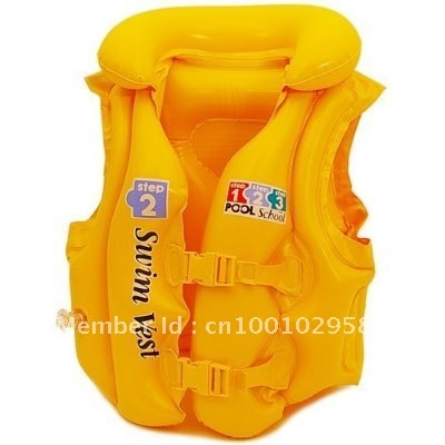 freeshipping intex kid inflatable swimming girl boys vest wet set boy swim jacket Children's luxurious bathing suit
