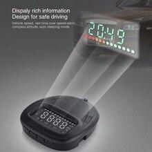 Universal Cabeça Up Display HUD OBD2 Carro Auto GPS Sistema de Alarme de Aviso de Excesso De Velocidade Digital Velocidade Do Carro Projetor na Brisa
