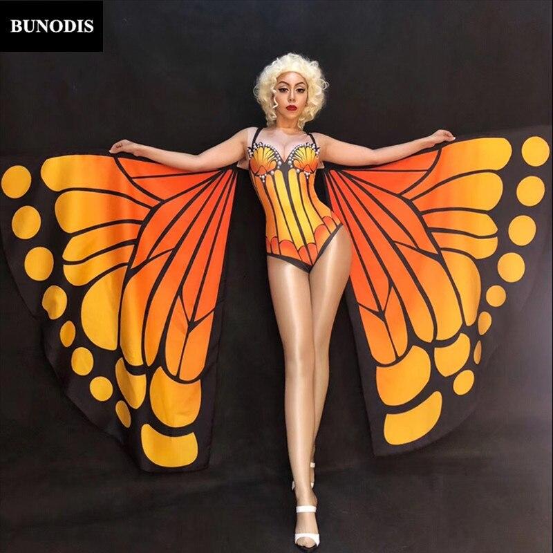 Série Zd343 Nightclub Performance Grand Sexy Femmes Perles sans Costu Support Body Porter Stage Danseur Papillon S1Htqwx1