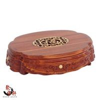 Special Red Wingceltis Solid Wood Carving Of Buddha Carved Mahogany Handicraft Circular Base Vase Furnishing Articles