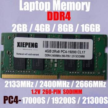 Laptop RAM 16GB  DDR4 2666MHz PC4-21300 8GB PC4-17000 2133 MHz SO-DIMM 4GB PC4 19200 2400 MHz NON-ECC Unbuffered Notebook Memory