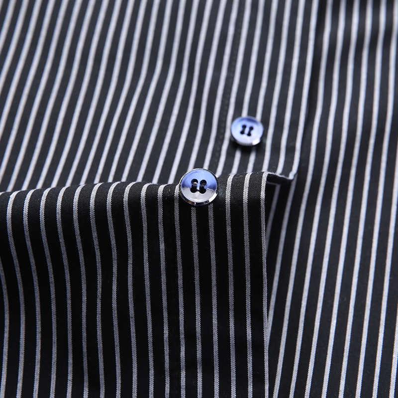 2020ファッションブランドデザイナーシャツの男性のストライプトップグレードスリムフィットストリート長袖ワークアウト日本のカジュアル男性服