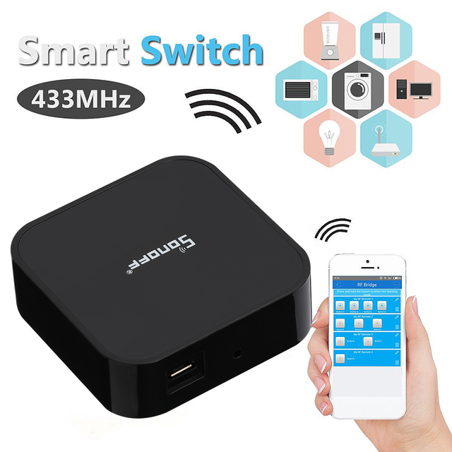 Universal Sonoff Smart Switch RF Bridge 433MHz Wifi App Remote DIY Timer  for Smart Home Wifi Remote App Control Switch-in Home Automation Modules  from