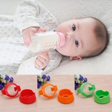2017 Cute Baby Newborn Handles Holder Trainer Easy Grip + Base For Wide Mouth Bottle New APR14_30(China)