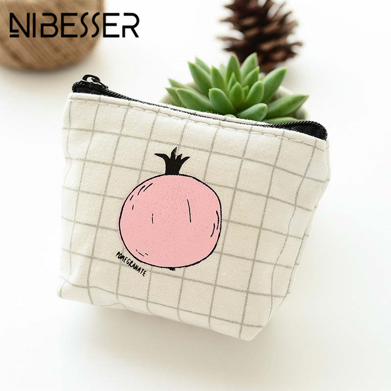 Laamei Fruit Print Women Coin Wallet Girls Coin Purse Sweet Money Bag Change Pouch Purse Key Holder Portable Cartoon Wallet Bag