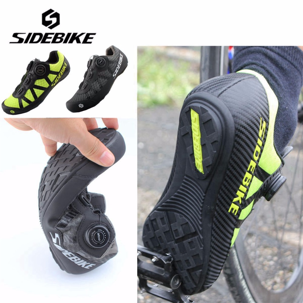 SIDEBIKE 2018 New Cycling Shoes Road Sneaker Outdoor Professional Road Shoes Bicycle Shoes Non Slip No Lock Road man Bike Shoes