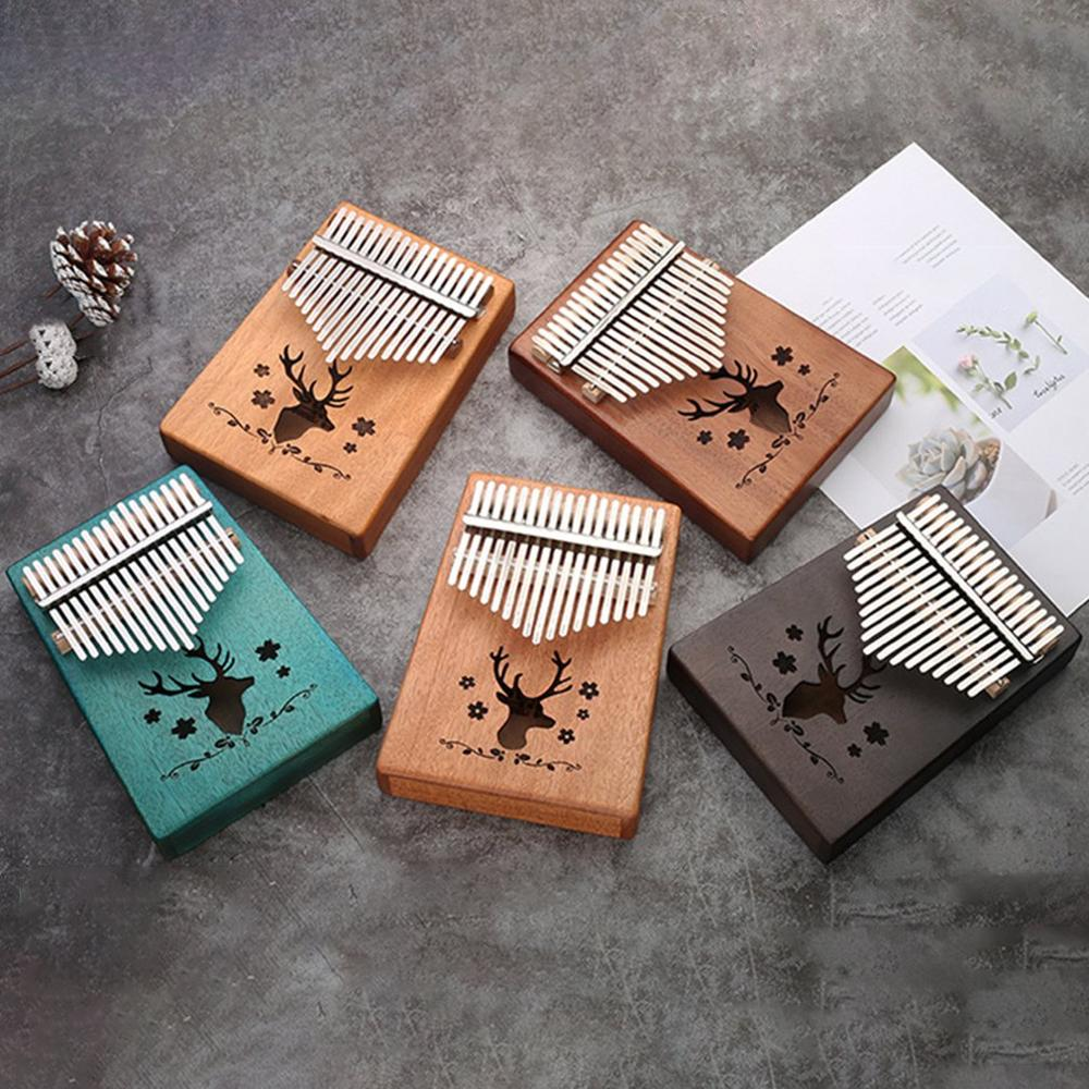 17 touches Kalimba placage acajou pouce Piano Mbira naturel Mini clavier Instrument de musique
