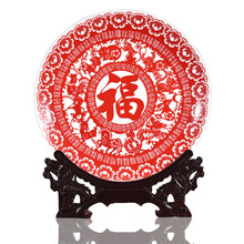 Jingdezhen Porcelain Antique Decorative Plate Twelve Chinese Zodiac Signs Red Ceramic Decor Plate Metope For Living Room Hotel