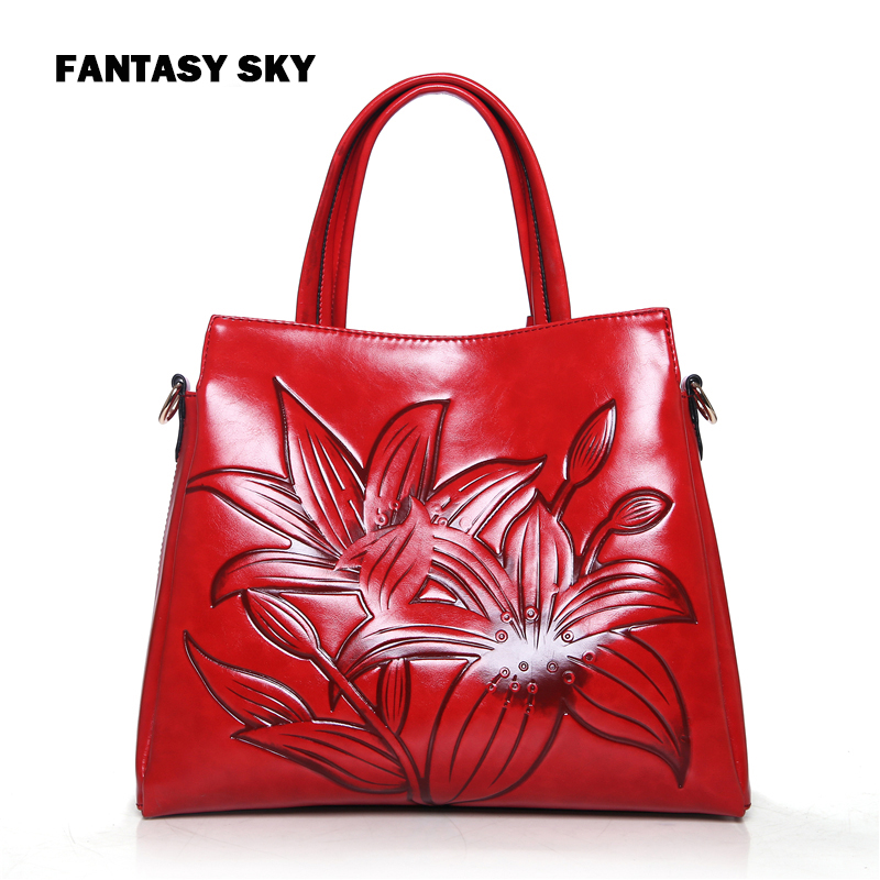 Sky fantasy Chinese fashion style embossed flower PU women cross-body shoulder bag vogue classic casual tote youth lady handbag hot fashion chinese style women handbag embroidery ethnic summer fashion handmade flowers ladies tote shoulder bags cross body