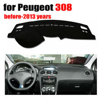 Car dashboard covers mat for Peugeot 308 before-2013 years Left hand drive dashmat pad dash cover auto dashboard accessories
