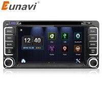 Eunavi 2 din DVD радио плеер gps для Toyota Hilux yaris VIOS Camry Corolla Прадо RAV4 Prado 2003 2004 2005 2006 2007 2008