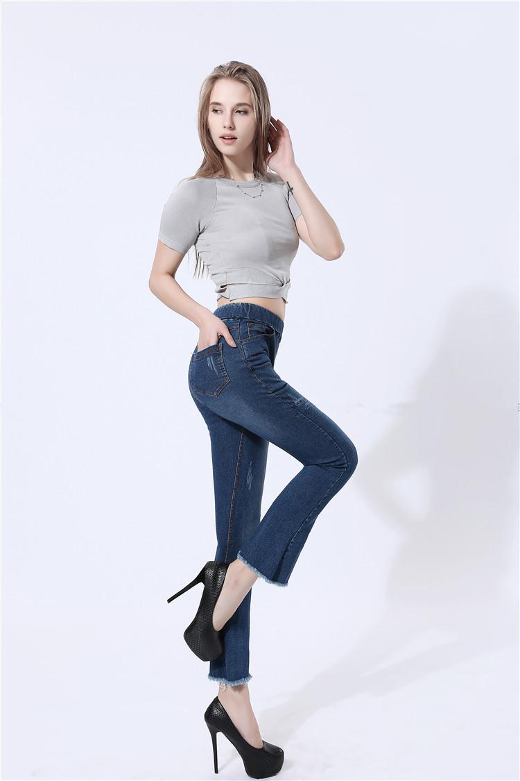 1474493b2 2017 Leggings Jeans for Women Denim Pants Pocket Slim Jeggings Fitness  legging capris Women high Waist Leggins M-4XL Black Blue