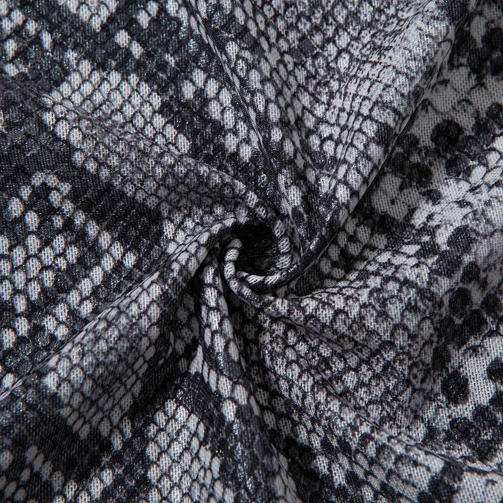 8bc9a7319895a snake print women turtleneck long sleeve wrap dress spring summer casual  short bodycon dress plus size robe femme ete D5191