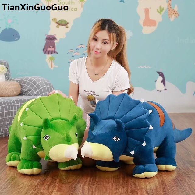 large 90cm cartoon Triceratops dinosaur plush toy plush toy soft doll throw pillow birthday gift s0242 large 90cm cartoon pink prone pig plush toy very soft doll throw pillow birthday gift b2097
