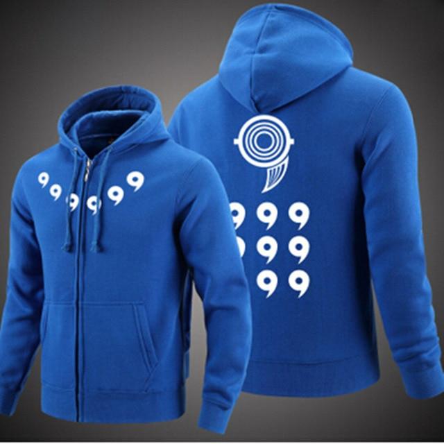 Naruto Men Thick Zipper Hoodie Sweatshirts
