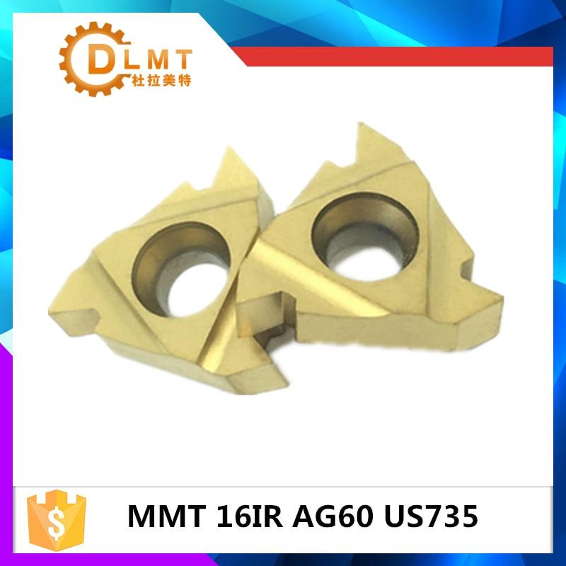 20vnt MMT 16IR AG60 AG55 US735 Sriegio tekinimo įrankiai Karbido intarpai Pjovimo įrankis CNC įrankiai Tekinimo pjovimo įrankiai 16IRAG60