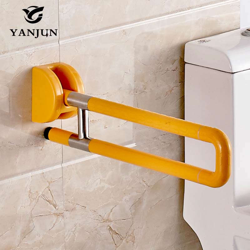 Yanjun Flip Up Safety Grab Bars Handrails Platicl Grab Bars handrails For Old Or Disabled Person