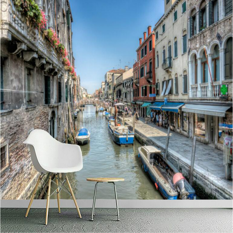 Custom Made Home Improvement Decor 3D Wallpaper for Walls Venetian town building TV Wall Wall Papers Mural for Living Room custom wallpaper for walls 3 d photo wall mural pastoral country road tv walls 3d nature wallpapers for living room