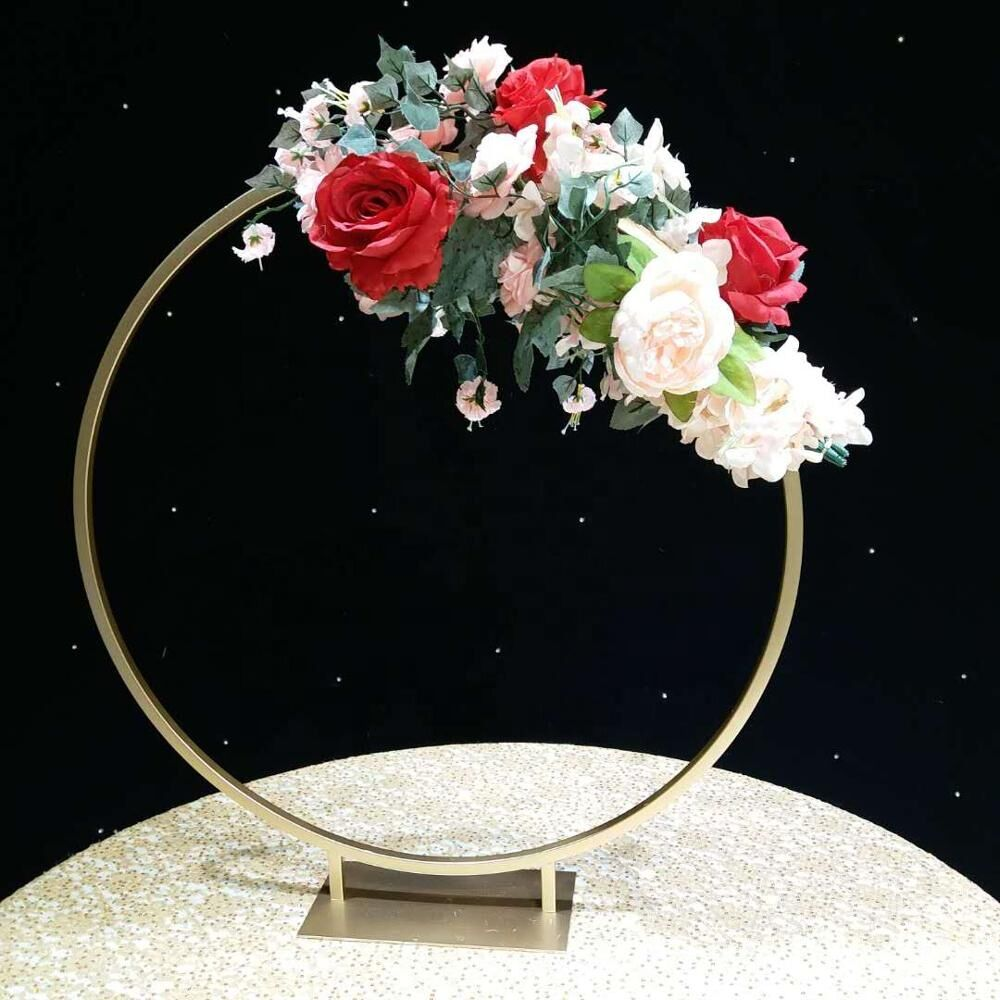 10pcs Romantic Wedding Gold Or Silver Metal Iron Flower Arch Stand Support For Wedding Decoration Floral Stand