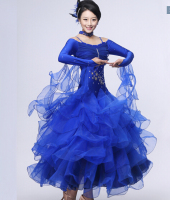 Modern dance costumes Standard ballroom dress Ballroom skirt