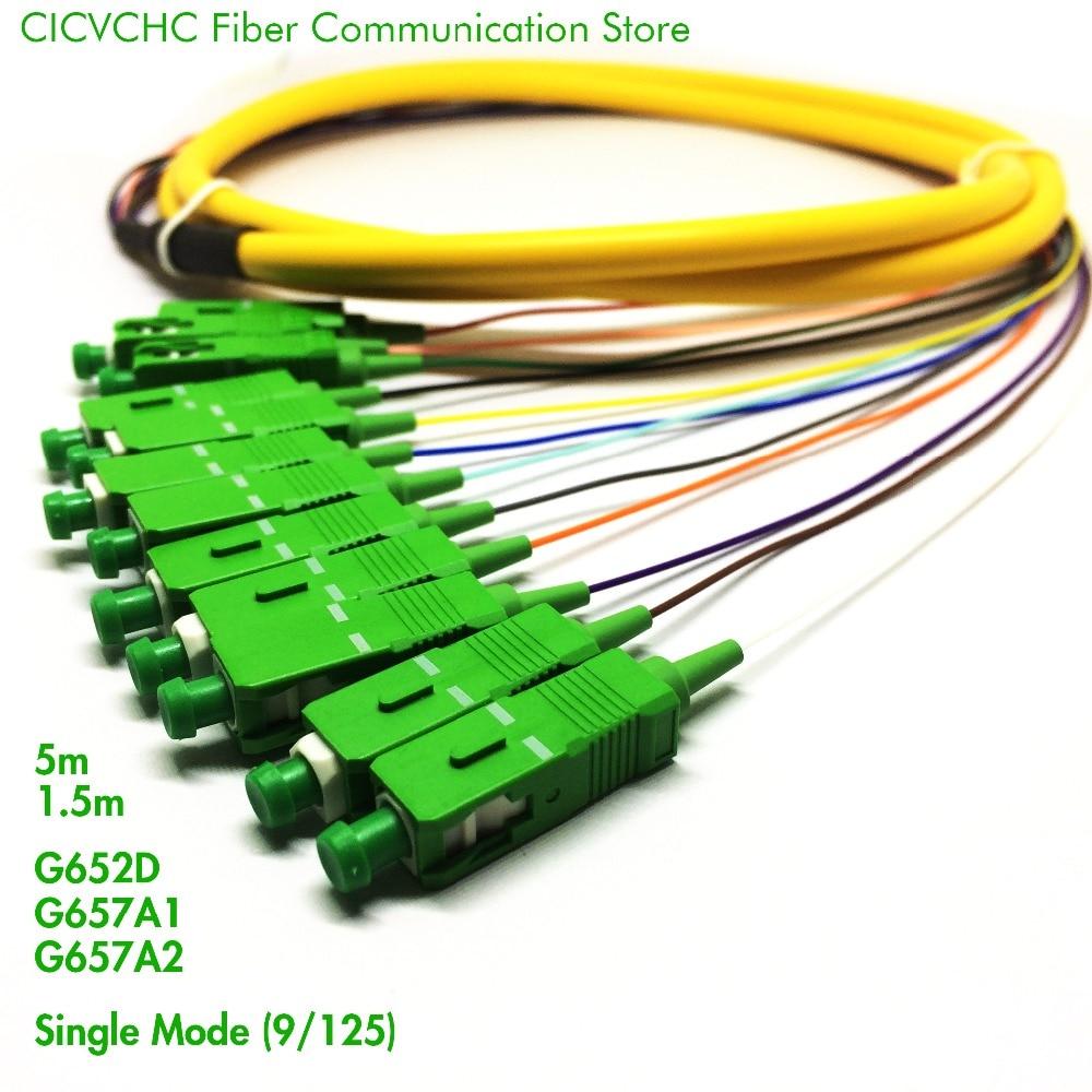 2pcs 12 섬유 분배 케이블-SC / APC-SM (9/125) -G652D, G657A1, - 통신 장비 - 사진 2