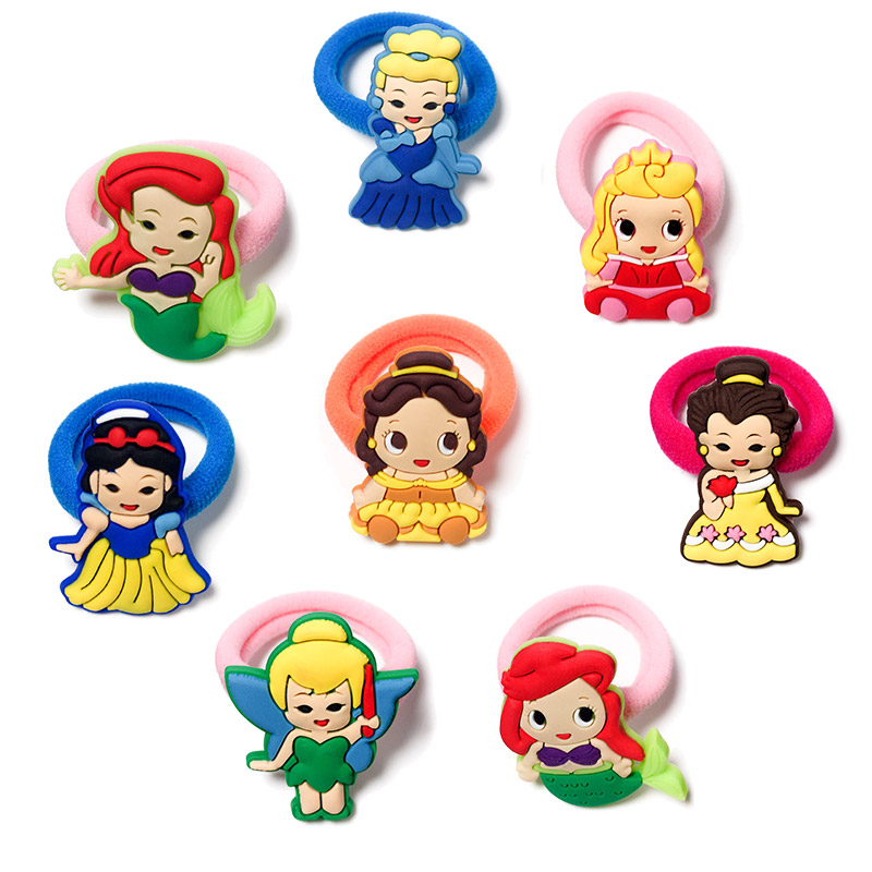 1-8pcs lovely Baby Princess Hot Cartoon Hair Bands Hairpins Barrettes Kids Headwear Multicolor Hair Travel Accessories