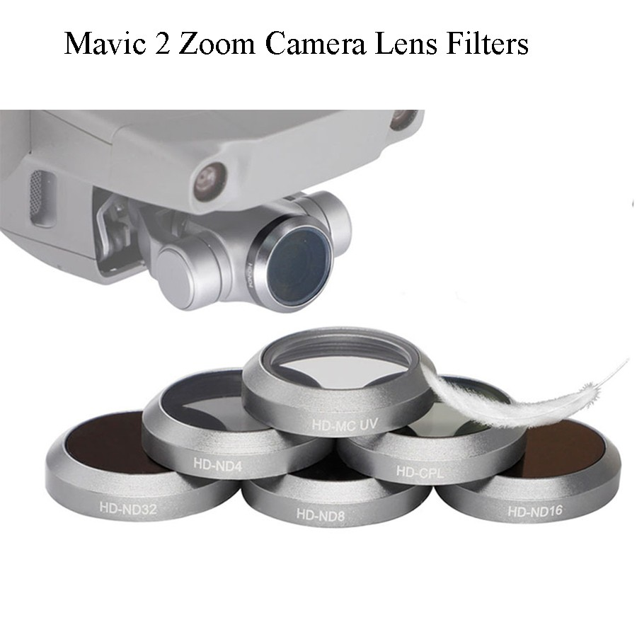 For DJI Mavic2 Zoom Filter Drone UV CPL ND4 ND8 ND16 ND32 For Mavic 2 Zoom Professional Camera Lens Filter UV CPL ND Filters