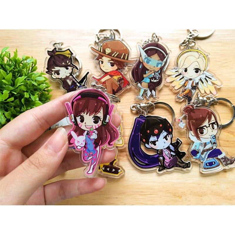 50pcs 4 designs custom clear keychain 5cm Charm Anime Keychian with 1 side Victor Nikiforov Boyang