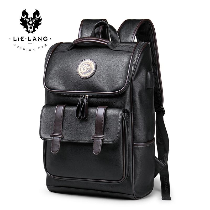 LIELANG Laptop Backpack Mochila College Bookbag Waterproof 15inch USB Men Hombre