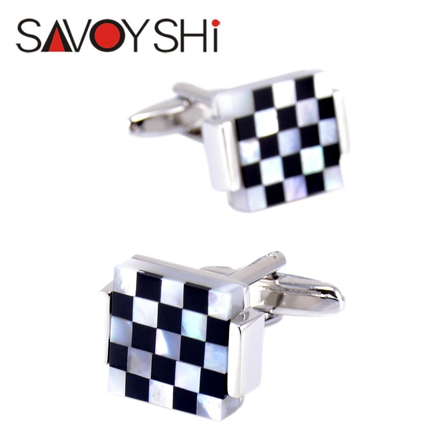 """""""SAVOYSHI"""" prabangūs kvadratiniai rankogalių segtukai vyrams - Mados papuošalai - Nuotrauka 5"""