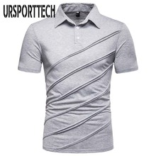 URSPORTTECH Brand New T Shirt Men Summer Casual Patchwork T-shirt Short Sleeve Male Tops Tees Free Shipping free shipping 2015 new summer brand teen boy solid polo shirt 12 13 14 15 years children patchwork tees kids tshirt 6c3050
