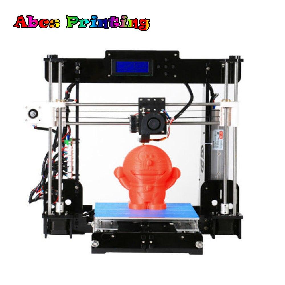 A8 3D Printer High Precision Reprap i3 DIY Kit Prusa i3 DIY stable 3D Printer Parts oem printer reprap prusa i3 3d printer 3d printer china for 3d printing