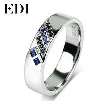 EDI Romantische 925 Sterling Silber geliebten Verlobungsring Simualted Rubin Saphir Band Edlen Schmuck Geschenke