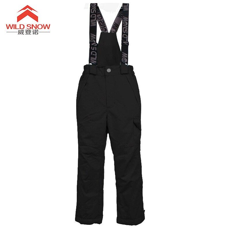 Hiver filles pantalons de Ski coupe-vent pantalons survêtements pour enfants imperméable chaud enfants garçons neige Ski pantalon