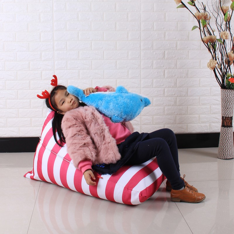 Portable Stuffable Animal Toys Storage Bean Bag Stuffed Children Plush Toy Organizer Lovely Chair for Kids