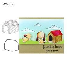 Jc Rubber Stamps and Metal Cutting Dies Scrapbooking Craft House Pet Dog's Home Stencil for Card Making Album Sheet Decoration растворитель нхп р 4 бт 4 0 5 л