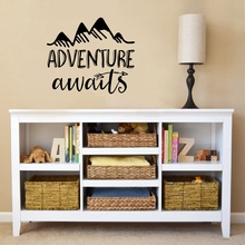 Adventure awaits Vinyl Wall Decal Art Nursery Quote Removable sticker Arrows Mountains Explorer Nature Modern decor
