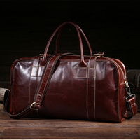 Men Cross Body Business Tote Handbag Travel Large Capacity Briefcase Retro Genuine Leather Shoulder Messenger Top Handle Bags