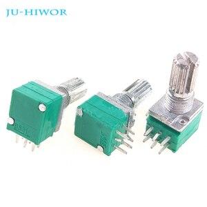 100 pces rk097g 6pin duplex potenciômetro selado resistência ajustável 10 k 20 k 50 k 100 k ohm para o amplificador do orador