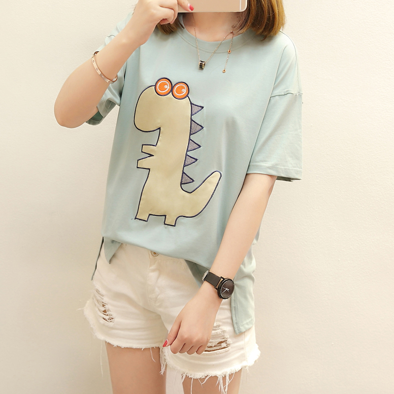 China Clothing Co.,Ltd. 2xl blusas feminina spring summer 2017 korean women top loose new animal print cute sweet tshirts female A3934