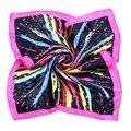 [LESIDA] Artículos de Moda de Alta Calidad 100% de Seda impresa Bufandas Del Cráneo Negro Textura De Seda Pañuelo de Seda Satén Bufanda de Las Mujeres XF1003